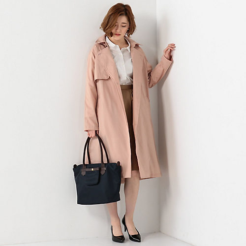 THE STATION STORE/<because> ガウントレンチ レインコート/¥4,500+税