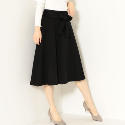 CS monable ポンチ リボン フレアスカート