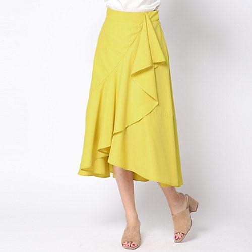 Viaggio Blu/≪大きいサイズ≫ラッフルデザインカラーフレアスカート/¥22,000+税