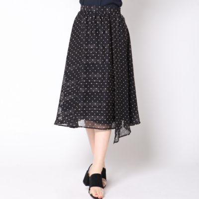 ストライプ×ドットスカート