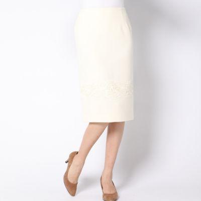<集英社>≪大きいサイズ≫レース使いスカート画像