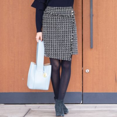<集英社>≪大きいサイズ≫ラメファンシー台形ミニスカート画像