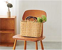 【インテリア雑貨特集】松野屋 ストローカゴ | 丁寧に編み込まれたかごバッグ