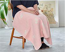 【インテリア雑貨特集】KLIPPAN【mina perhonen】シュニールコットン シングルブランケット CHOUCHO | シングルサイズは肌掛けにぴったりの大きさ