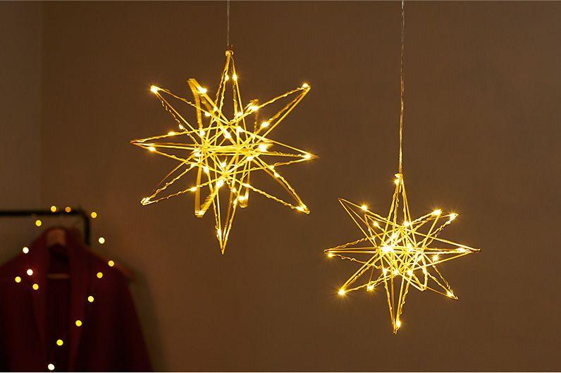 【インテリア雑貨特集】Horn Please MADE LEDライト ファームワイヤーステラ(S) | クリスマスや子供部屋のデコレーションにぴったり