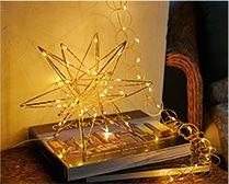 【インテリア雑貨特集】Horn Please MADE LEDライト ファームワイヤーステラ(L) | ハンギングできる星のモチーフ型LEDデコレーション