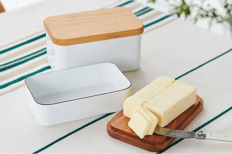 【インテリア雑貨特集】野田琺瑯 バターケース 450g | におい移りがなく、冷却性の高い琺瑯のバターケース