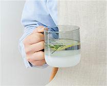 【インテリア雑貨特集】amabro TWO TONE MUG グレー | 耐熱ガラス製のモダンでシンプルなマグ