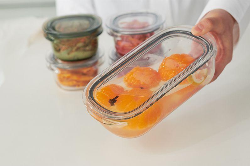 【インテリア雑貨特集】like-it 調理ができる保存容器 | 耐熱・耐冷性・撥水性に優れた樹脂(TPX)を使用。食品からの色移りや汚れがつきにくい素材の保存容器