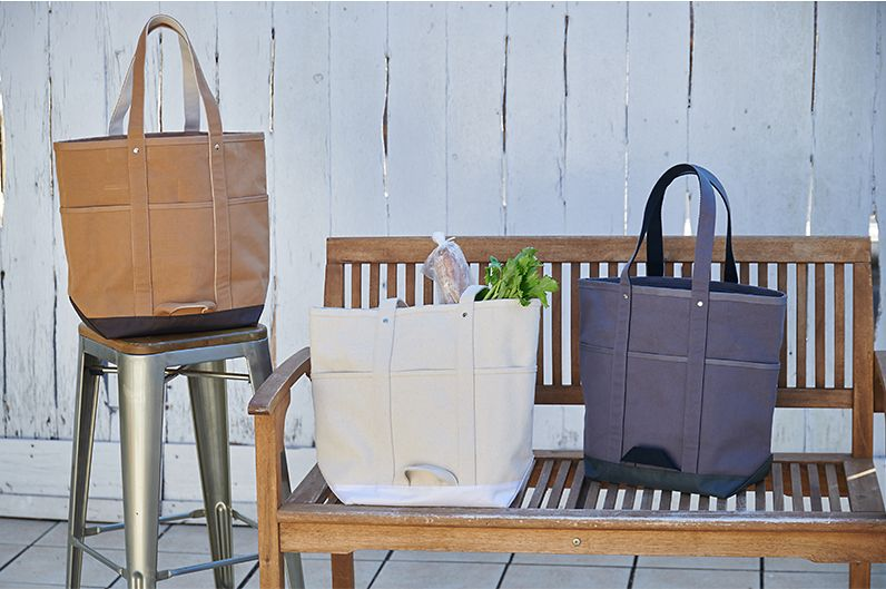 【インテリア雑貨特集】HEMING'S コンパートメントバッグ | お買い物の時に便利な仕切りやポケットが充実したトートバッグ