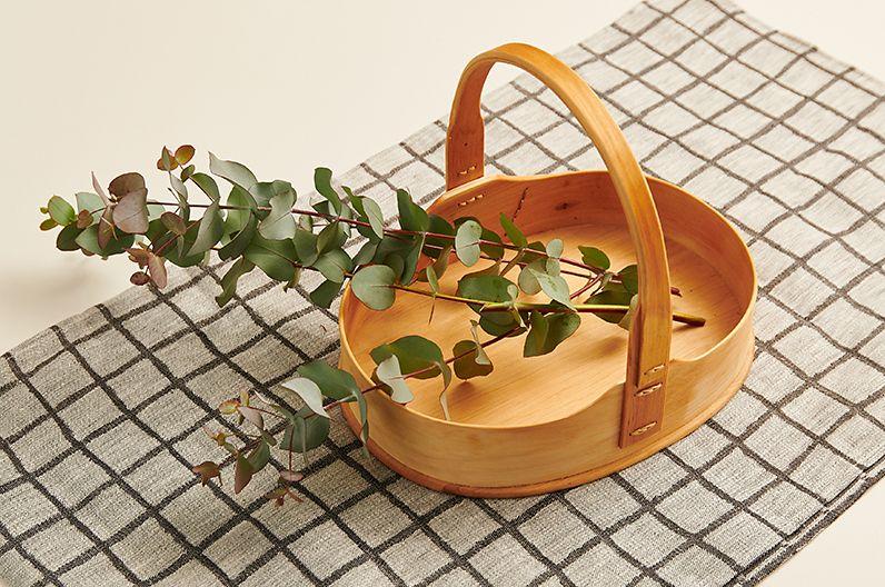 【インテリア雑貨特集】Scandinavian Handcraft SPブレッドバスケットL | 北欧スカンジナビアの木工職人の手作業で仕上げた木製品