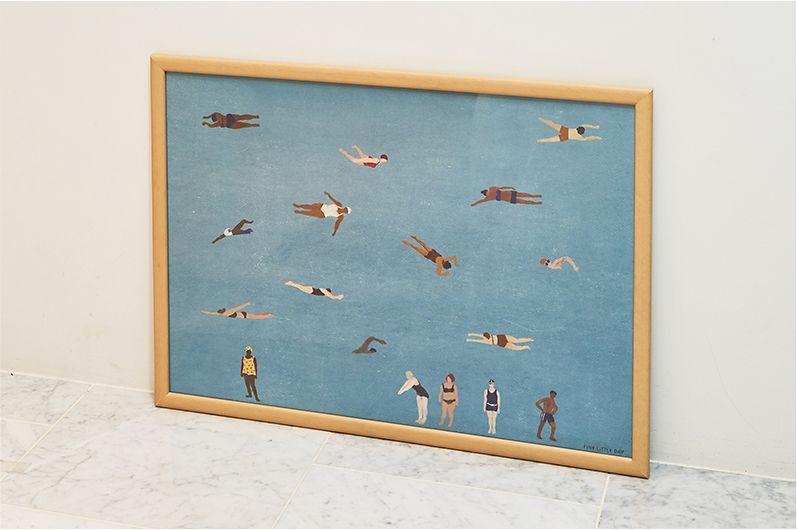 【インテリア雑貨特集】Fine Little Day ポスター SWIMMERS | Elisabeth Dunker(エリーサベット・デュンケル)によって描かれたSWIMMERS(スイマー)のポスター