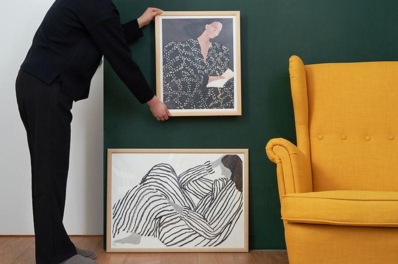 【インテリア雑貨特集】Fine Little Day ポスター READING / BORED | Sofia Lind(ソフィア・リンド)によって描かれたポスター