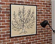 【インテリア雑貨特集】IDEE アンリ・マティス 「低木」 | Henri Matisse (アンリ・マティス)の「低木」のポスター